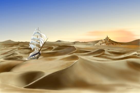 la mer de sable.